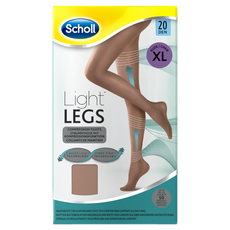 Scholl Extra Large Light Legs Compression Tights 20 Den Nude