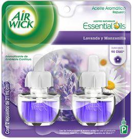 Air Wick® Eléctrico Lavanda y Manzanilla Repuesto 21 ml (x2)