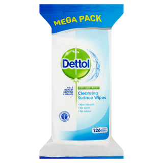 Dettol  Surface Cleanser Wipes 126s