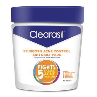 CLEARASIL® Stubborn Acne Control 5in1 Daily Pads 6/90 ct