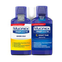 Maximum Strength Mucinex® Fast-Max® Day Severe Cold & Night Cold & Flu, Liquid