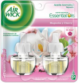 Air Wick® Eléctrico Magnolia & Cherry Repuesto 21 ml (x2)