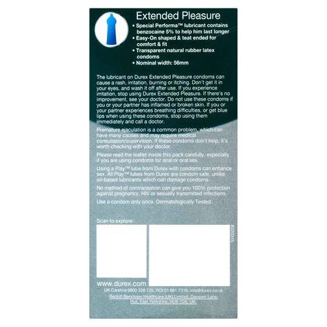 Durex Extended Pleasure Condoms 12 Pack