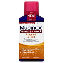 Maximum Strength Mucinex® Sinus-Max® Pressure & Pain, Liquid