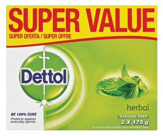 Dettol Hygiene Soap herbal 2x175g