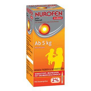 Nurofen® Junior Fiebersaft 2% Suspension zum Einnehmen Erdbeer 100 ml