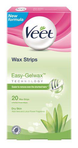 Veet® Wax Strips With Easy Grip™ - Legs & Body – Dry Skin