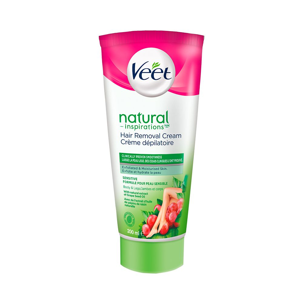 Veet® Natural Inspirations™ Hair Removal Cream Legs & Body Sensitive Formula, 200 mL