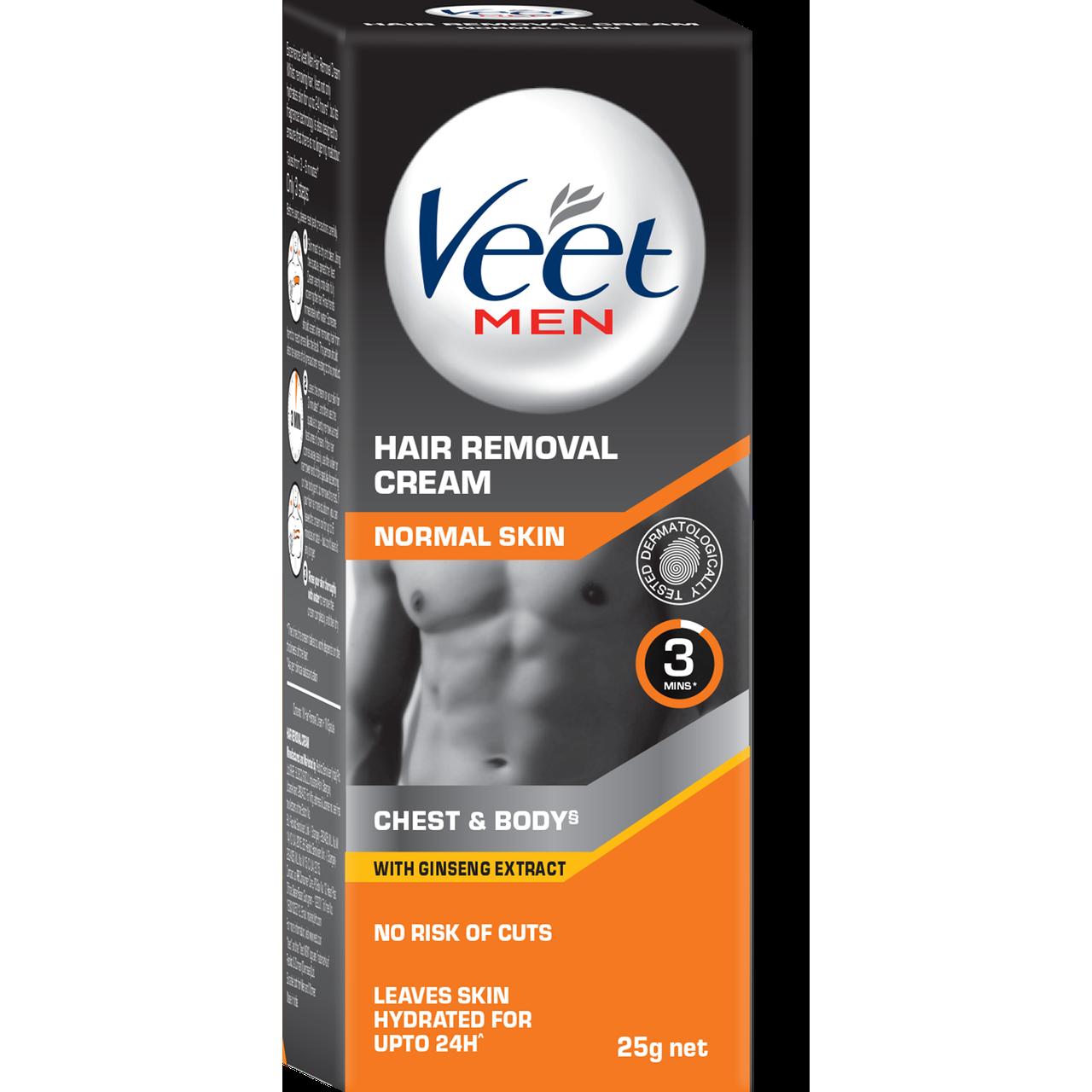 Buy Veet Men Hair Removal Cream Normal Skin Cream 25g Pack