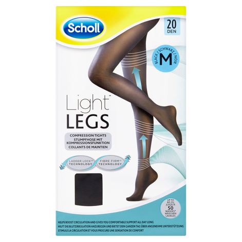 light legs compression tights med black 20 den scholl uk. Black Bedroom Furniture Sets. Home Design Ideas