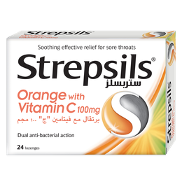 Strepsils Orange with Vitamin C Lozenges