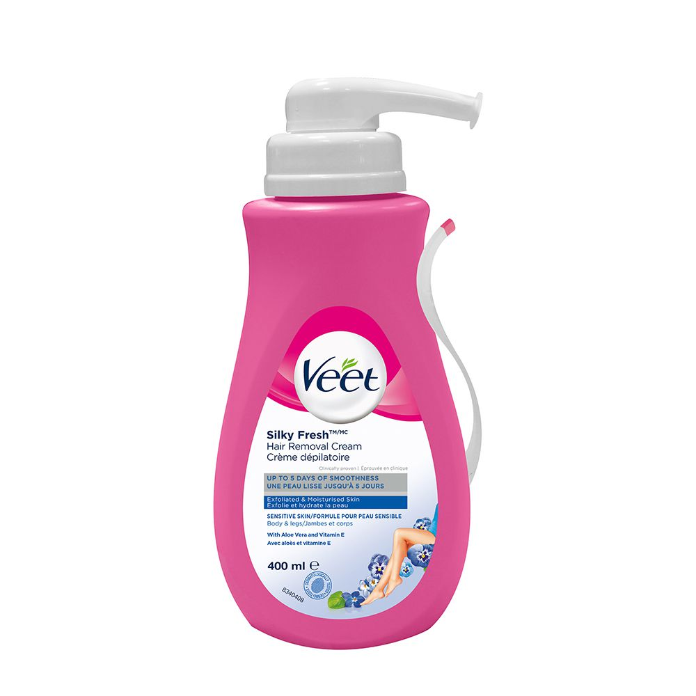 Veet® Hair Removal Cream Silky Fresh ™ Legs & Body Dry Skin, 400 mL