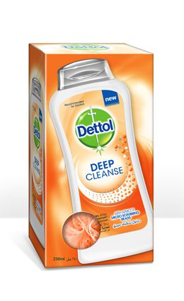 Dettol Deep Cleanse Shower Gel 250ML + PUFF