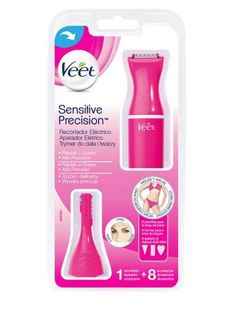 Sensitive Precision - Recortador Eléctrico de pelo, 8 accesorios, color Rosa