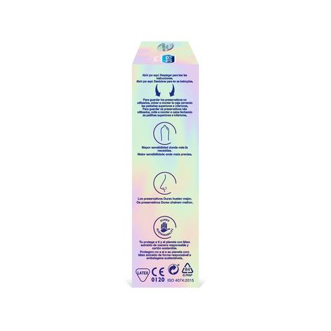 Durex Preservativos Invisible Extra Lubricado 12 unidades