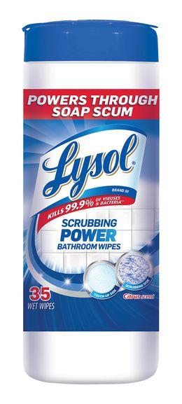 Lysol® Dual Action Bathroom Wipes