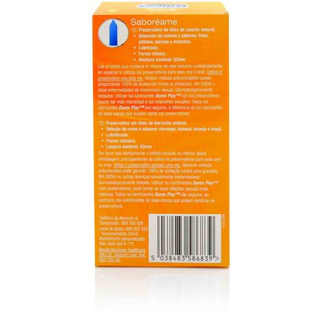 Durex Preservativos Saboreame12 unidades