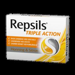 Repsils Triple Action Honning & Sitron 24