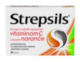 Strepsils pastile s vitaminom C i okusom naranče