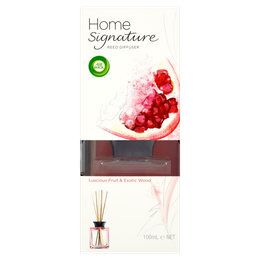 Air Wick Home Signature Reed Diffuser - Luscious Fruit & Exotic Wood
