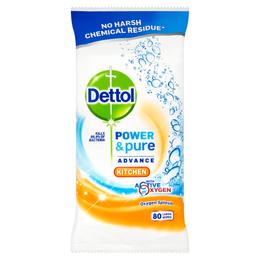 Dettol Power & Pure Advance Kitchen Wipes - Kitchen - Hob & Sink - Fresh Citrus Burst