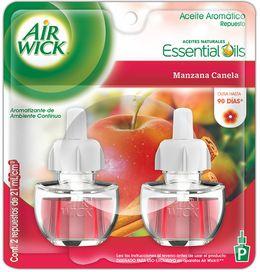 Air Wick® Eléctrico Manzana Canela Repuesto 21 ml (x2)