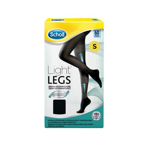Medias de compresión ligera Scholl Light Legs 60 DEN color negro S