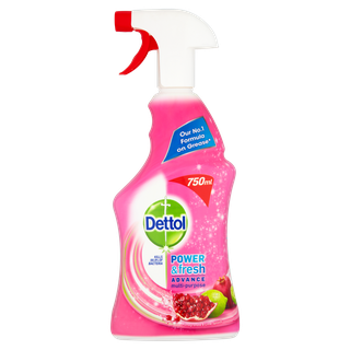 Dettol Power & Fresh Antibacterial Advance Multi-Purpose Spray - Pomegranate 500ml