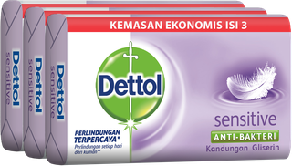 Sabun Anti Bakteri Dettol Sensitive (3 x 65g)
