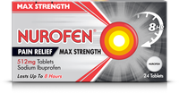 NUROFEN MAX STRENGTH PAIN RELIEF 512MG TABLETS