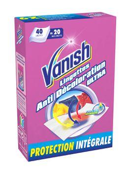 Vanish Lingettes Anti Décoloration