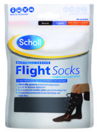 Scholl Flight Socks Size 6.5 - 9