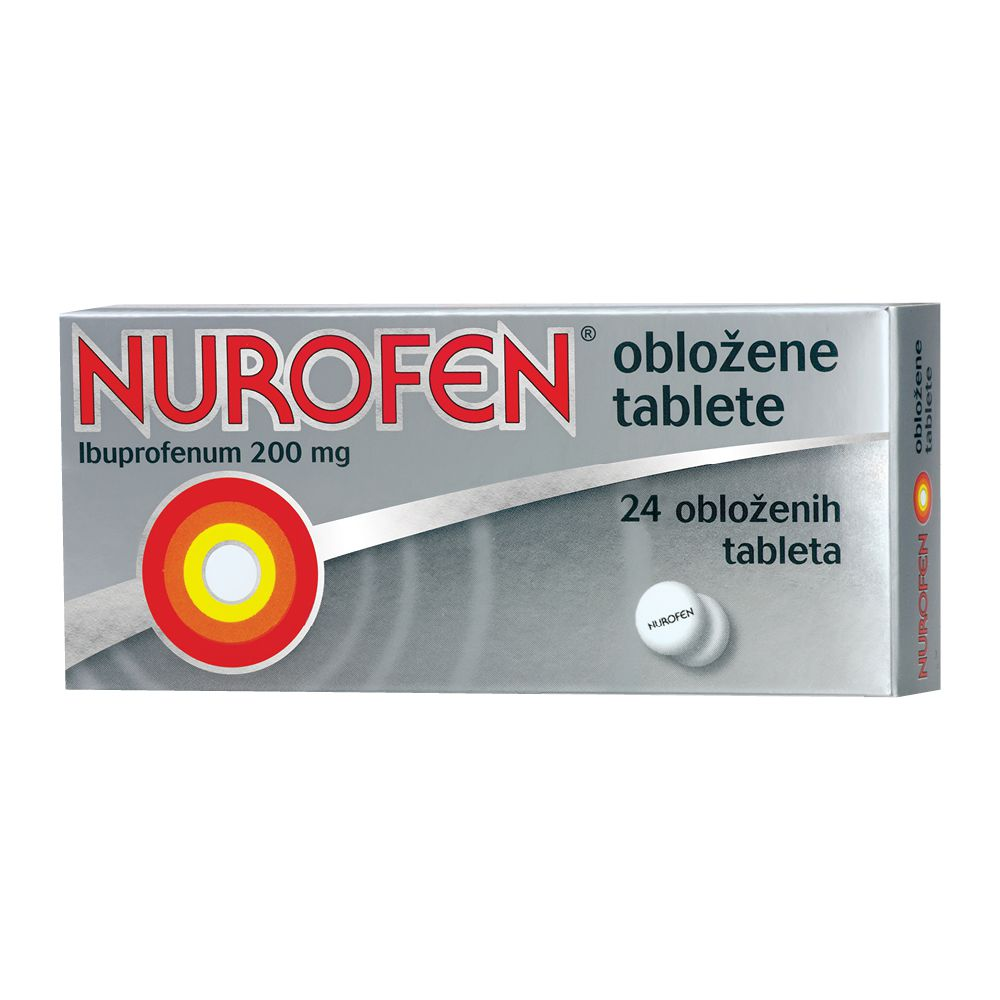 Nurofen 200 mg Oblozene Tablete 24x