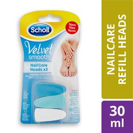 SCHOLL VELVET SMOOTH NAILCARE HEADS
