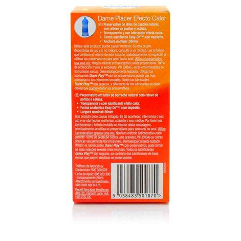Durex Preservativos Dame Placer Efecto Calor 12 unidades