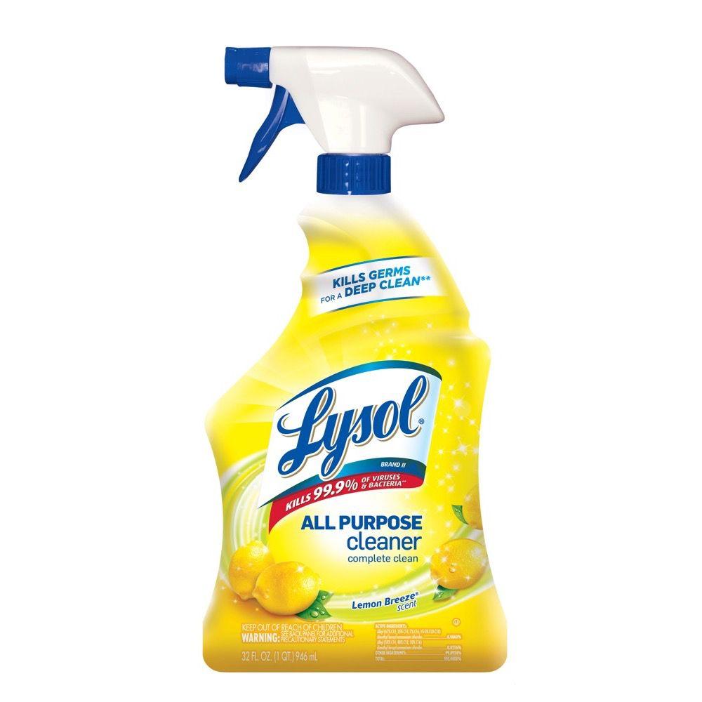 All purpose bathroom cleaner - Lysol All Purpose Cleaner Lemon Breeze