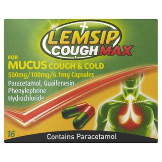 Lemsip Cough Max, Mucus Cough & Cold Capsules