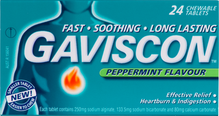 Gaviscon Peppermint Flavour Tablets