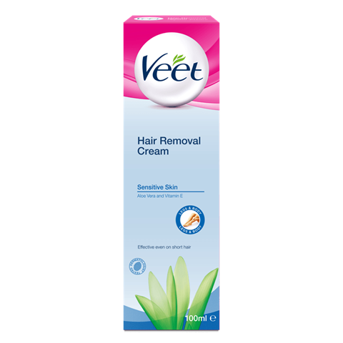 Veet Hair Removal Cream Brightening For Sensitive Skin 50g