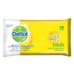 Dettol Skin Wipes Fresh 10s