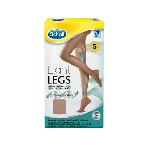 Medias de compresión ligera Scholl Light Legs 20 DEN color carne S