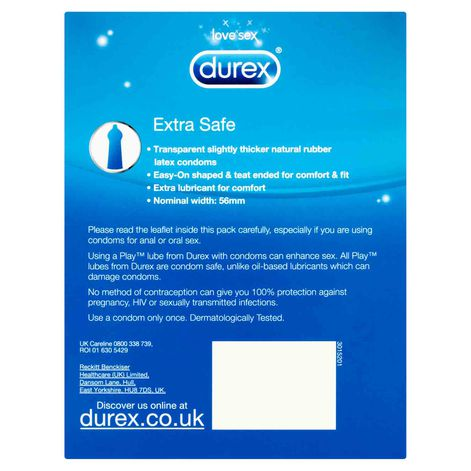 Durex Extra Safe Condoms 20 Pack