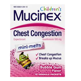 Mucinex® Children's Chest Congestion Mini-Melts™, Bubblegum Flavor