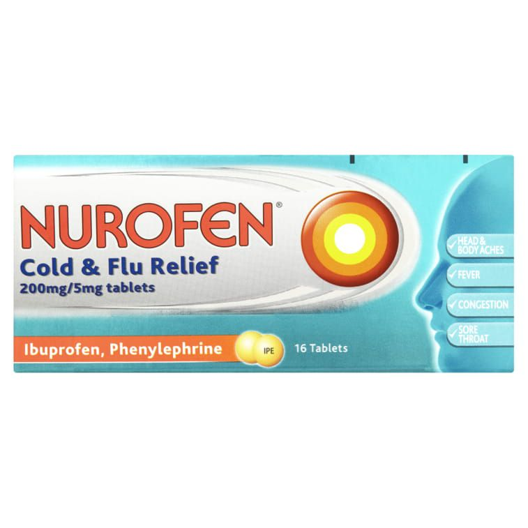 Cold And Flu Relieve Pain Fever And Congestion Nurofen
