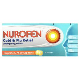 NUROFEN COLD & FLU RELIEF 200MG/5MG TABLETS
