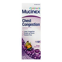 Mucinex® Children's Chest Congestion Liquid, Grape Flavor