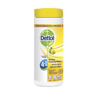 مناديل ديتول منظفة الأسطح ٤ في ١  الليمون