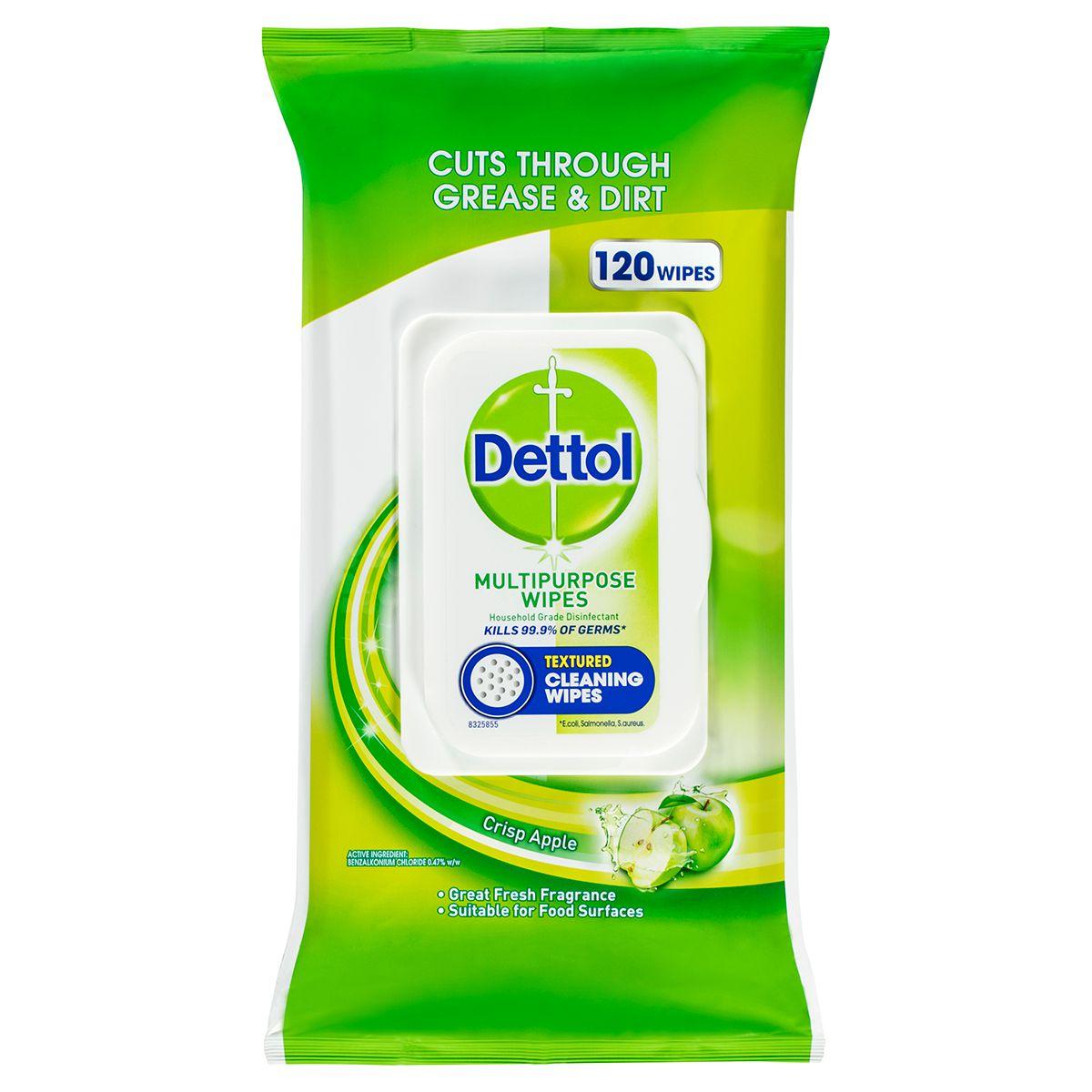 Dettol Multipurpose Wipes Crisp Apple 120 pack
