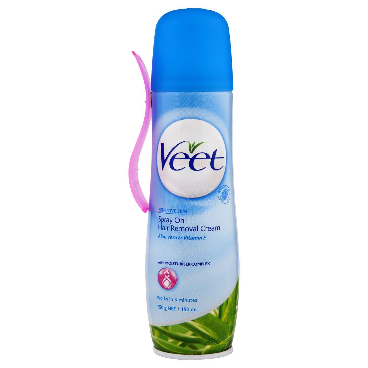 Veet Spray On Hair Removal Cream Sensitive Formula Veet Australia
