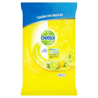 Dettol Power & Fresh Citrus Wipes 126s